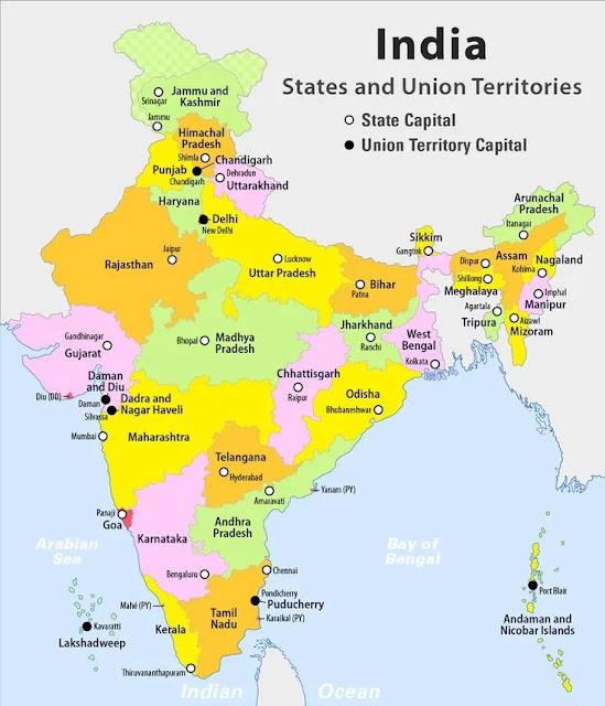 indian states in hindi - भारत के राज्य और राजधानी