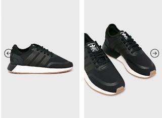 Adidasi femei adidas Originals N-5923 negri cu alb online