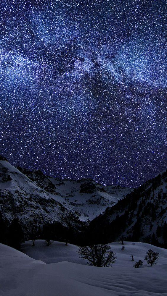 Sky in the night papel de parede imagem de fundo for Papel de pared paisajes