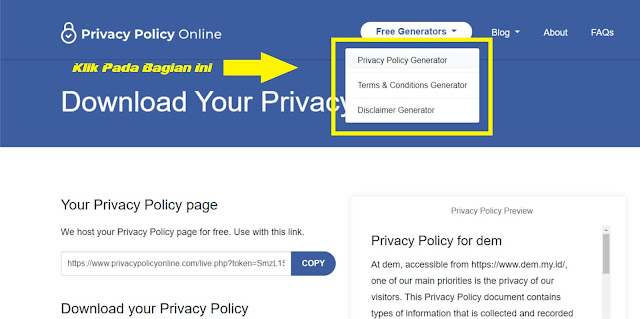 Membuat Privacy Policy Online