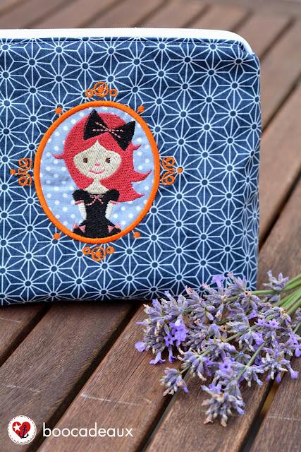 Kosmetiktasche Lieselotte von was eigenes mit Miss Wonderland von Nikiko