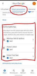 Cara Hapus Aktivitas Saya Di Google