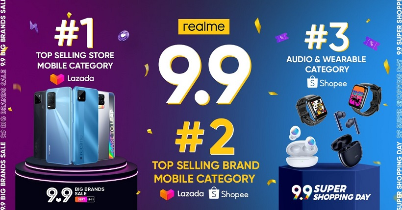 realme PH Official Store emerges as no. 1 top-selling mobile store during 9.9 Big Brands Sale