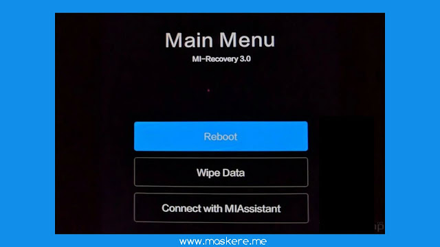 Cara Menghubungkan smartphone Xiaomi ke Mi PC Suite di mode recovery