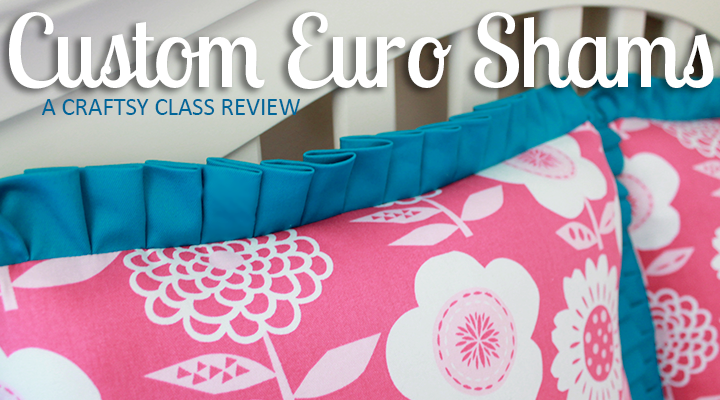 LOVE the knife-pleat ruffle! | Custom Bedding: Decorative Shams & Bolsters with Jann Newton | A Craftsy Class Review on The Inspired Wren