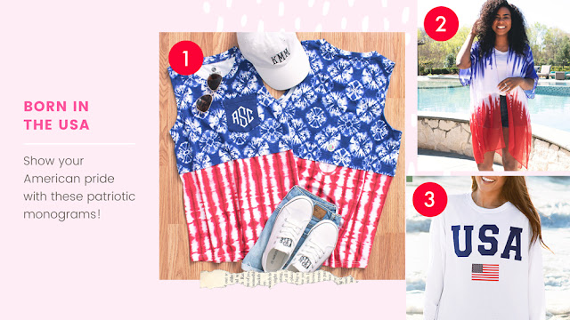 Patriotic Monogrammed Clothing for July 4th