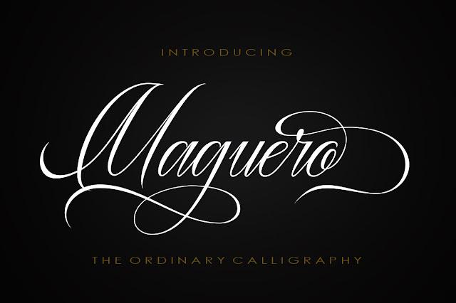 Maguero Script Download Font Free