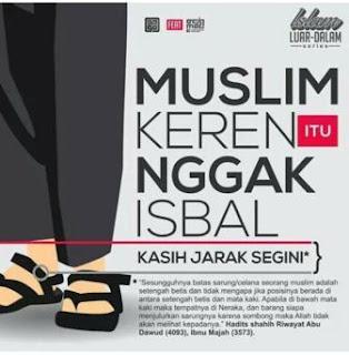 muslim keren itu tidak isbal