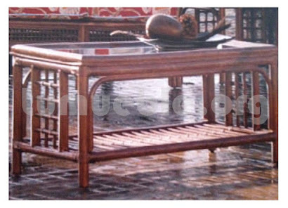 mesa de centro hecho en rattan natural j223