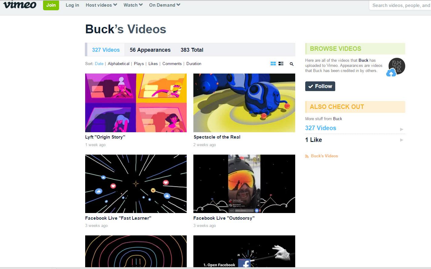 Buck Vimeo