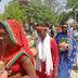 जनऊपुर में रुद्र महायज्ञ के अवसर पर निकली भव्य कलश शोभायात्रा