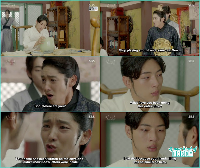 king reach there and shout for Hae Soo wang Jung ask why you come now and Wang so accuse him why he wrote name on the letters i didn't read any  - Moon Lovers Scarlet Heart Ryeo - Episode 20 Finale (Eng Sub)