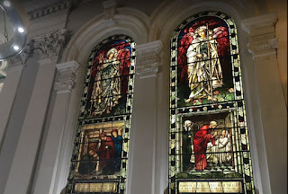 Stained glass windows at The Trinity