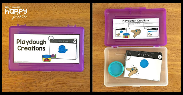 Fine Motor Skills Task Box Playdough Freebie