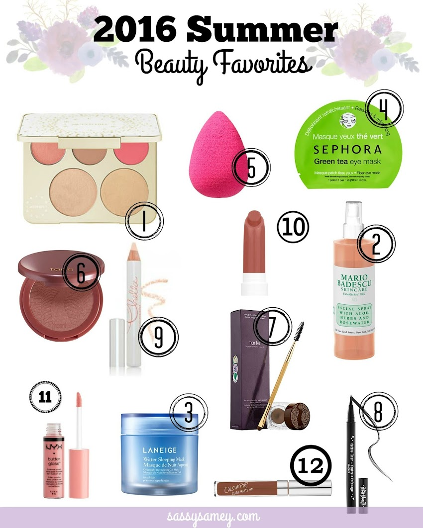 2016 Summer Beauty Favorites