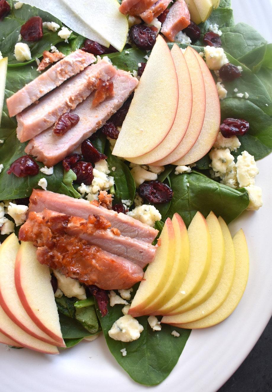 Fall pear and apple salad