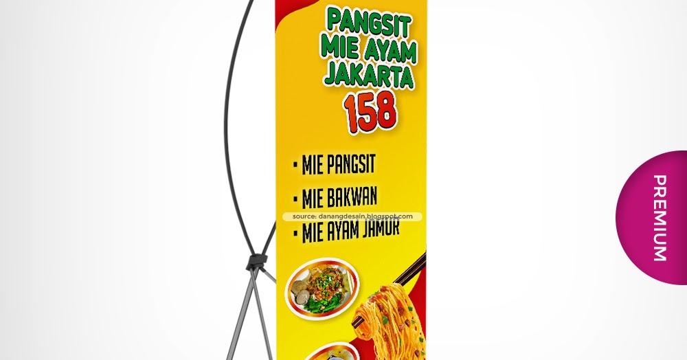 Banner Mie Ayam - desain spanduk kreatif