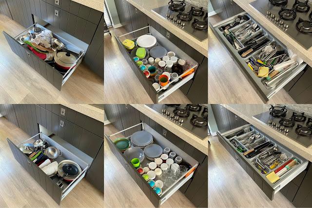 Keukenlades opruimen