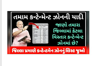 Gujarat All districts Contentment Zone List 31 May