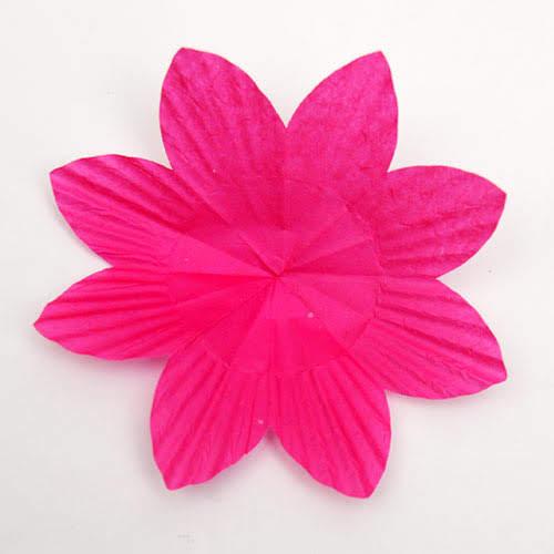 Buka kertas untuk melihat bagaimana bunga itu terlihat