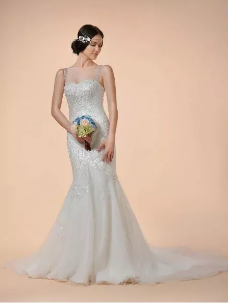 wedding dress, tiara
