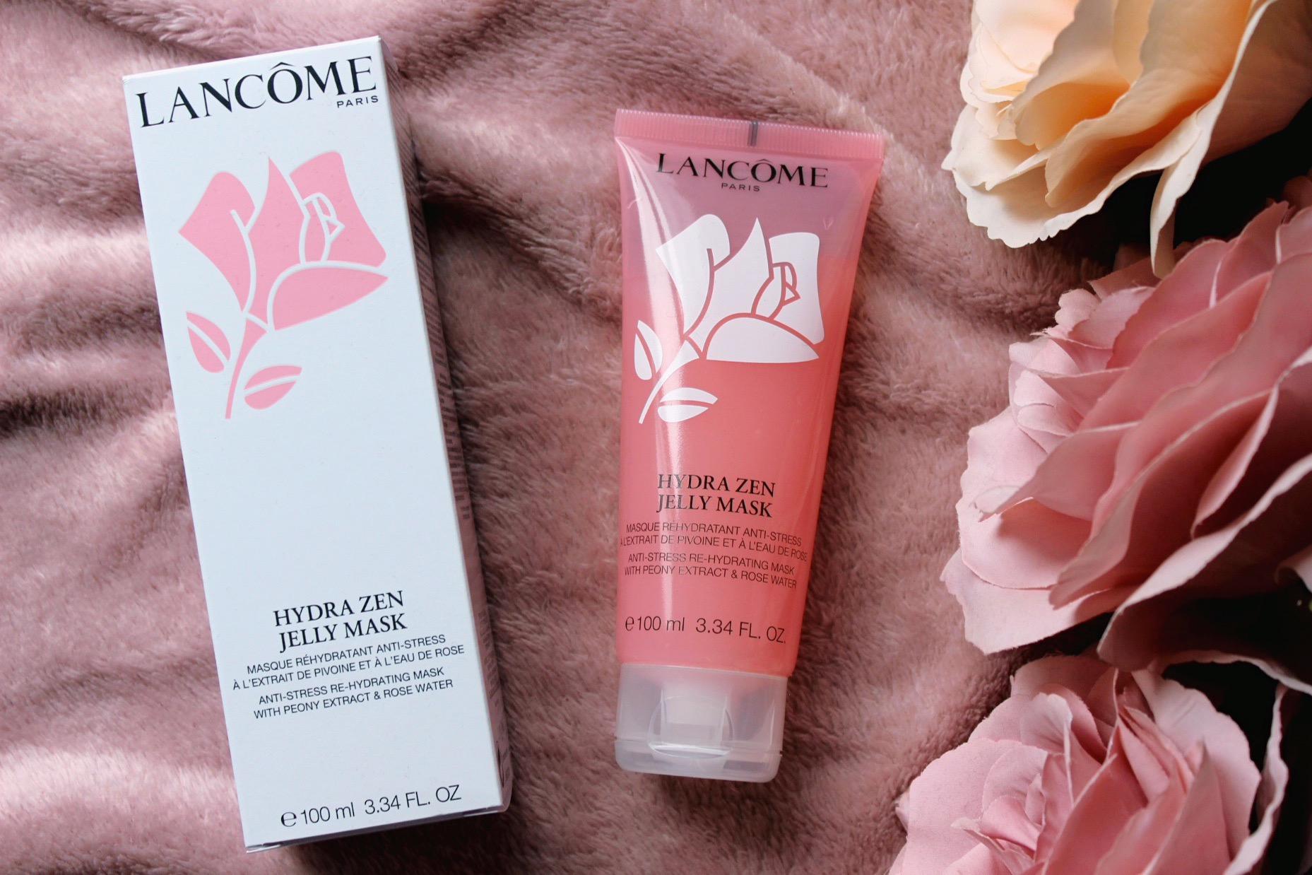 Lancome Hydra Zen Jelly Mask нощна маска за лице с роза козметика с рози розова вода
