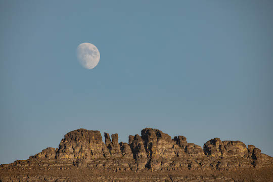 Moon over Heavy Runner Mountain