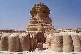 Patung sphinx pada peradaban awal mesir kuno