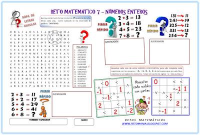 Sudoku, Sudoku con Puntas, Relación de Orden, Sopa de Letras, Sopa de Letras Circular, Piensa rápido, Sólo para Genios, Desafíos matemáticos, Problemas matemáticos, Problemas de lógica