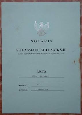 Akta Notaris Lembaga Deo Reiki