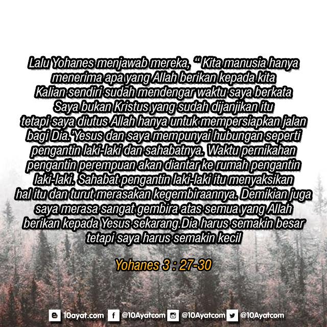 Yohanes 3 : 27-30