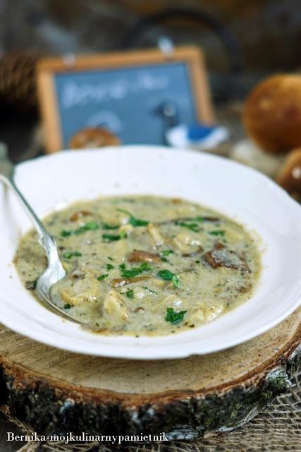 zupa, borowiki, grzyby, obiad, bernika, kulinarny pamietnik