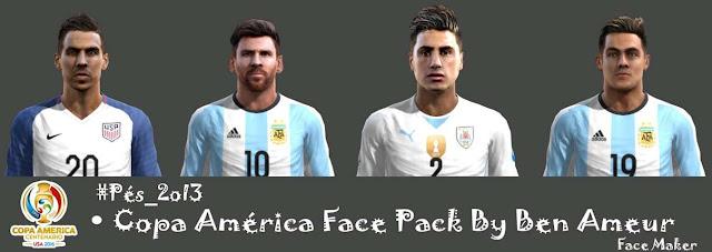 PES 2013 Copa América 2016 Facepack