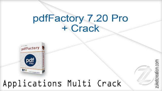 pdfFactory 7.20 Pro + Crack