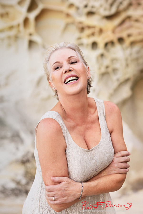A huge Marilyn Monroe smile from Wendy. Photography by Kent Johnson Sydney, Australia.