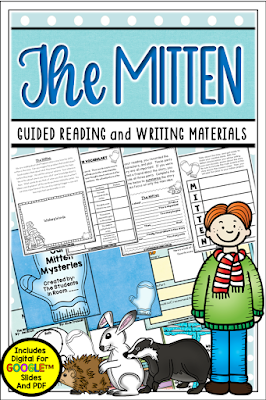 "If you're looking for a theme that is festive yet not ""Christmas"", how about mitten week? There are many mitten books to choose from. This unit comes in both PDF and full color digital for use with Google Slides TM. It's a great one to compare/contrast with The Hat too."