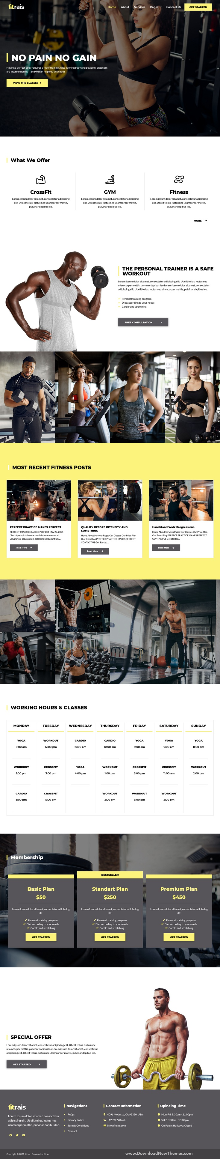 Fitrais - Sport & Fitness Elementor Template Kit