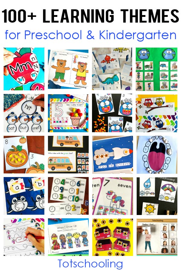 FREE printables for over 100 preschool and kindergarten learning themes. Perfect for parents and teachers to find and use our free resources and plan their curriculum.