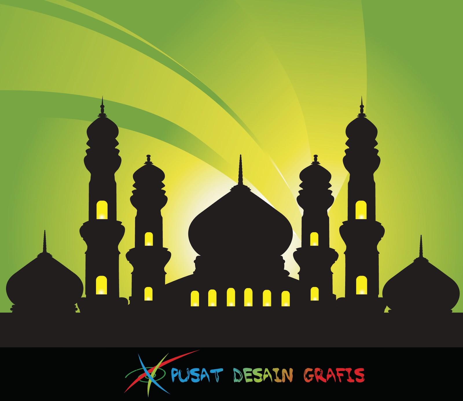 Masjid Vector Corel Draw Nusagates