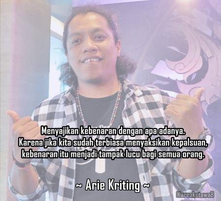8 Gambar Kata Bijak Caption Instagram Arie Kriting Stand ...