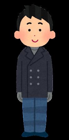 冬服を着た男性のイラスト