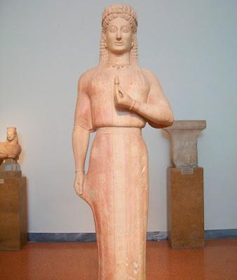 Συνειδητός «ενταφιασμός» επιτύμβιων αρχαϊκών αγαλμάτων