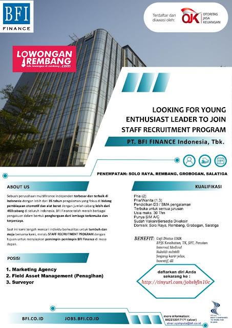 3 Lowongan Kerja Staff BFI Finance Rembang
