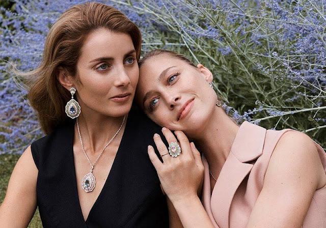 Beatrice Borromeo Casiraghi is wears Buccellati Sadar parure and Alyssum earrings. Lucrezia Buccellati