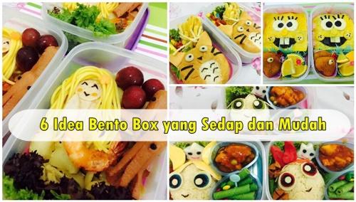 6 Idea Bento Box yang Sedap dan Mudah