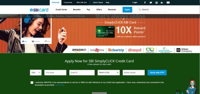 SBI Simply Click Credit Card Apply