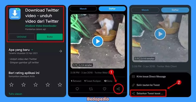 Aplikasi Download Video Twitter - TwDown.1