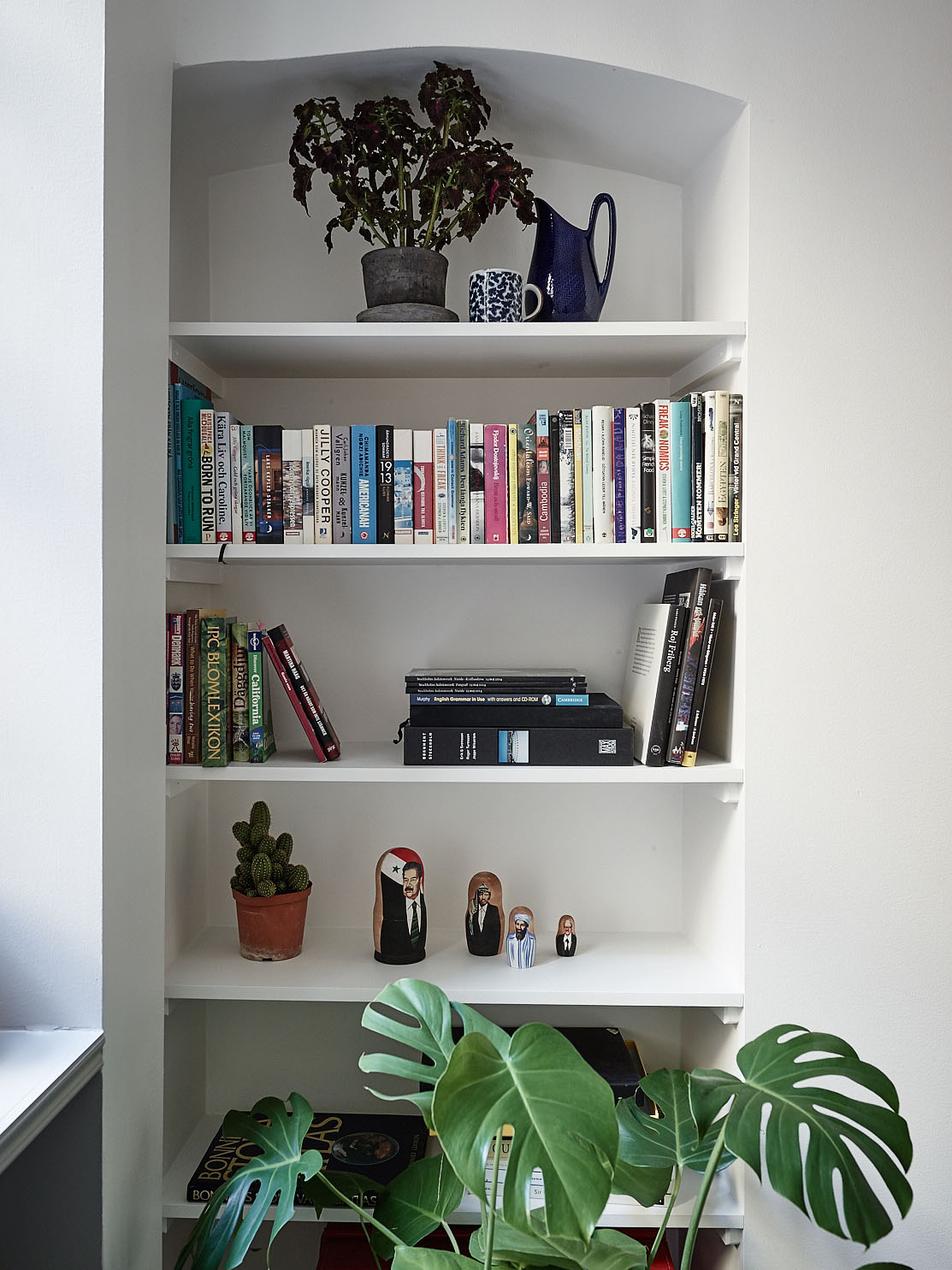 styling details on the shelf