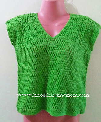 crochet cluster stitch top