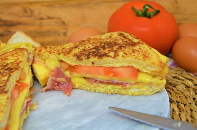 famoso sandwich, famoso sandwich que todo el mundo habla, sandwiches a la plancha, sandwiches a la sarten, sandwiches con huevo, sandwiches especiales, sandwiches originales, las delicias de Mayte,